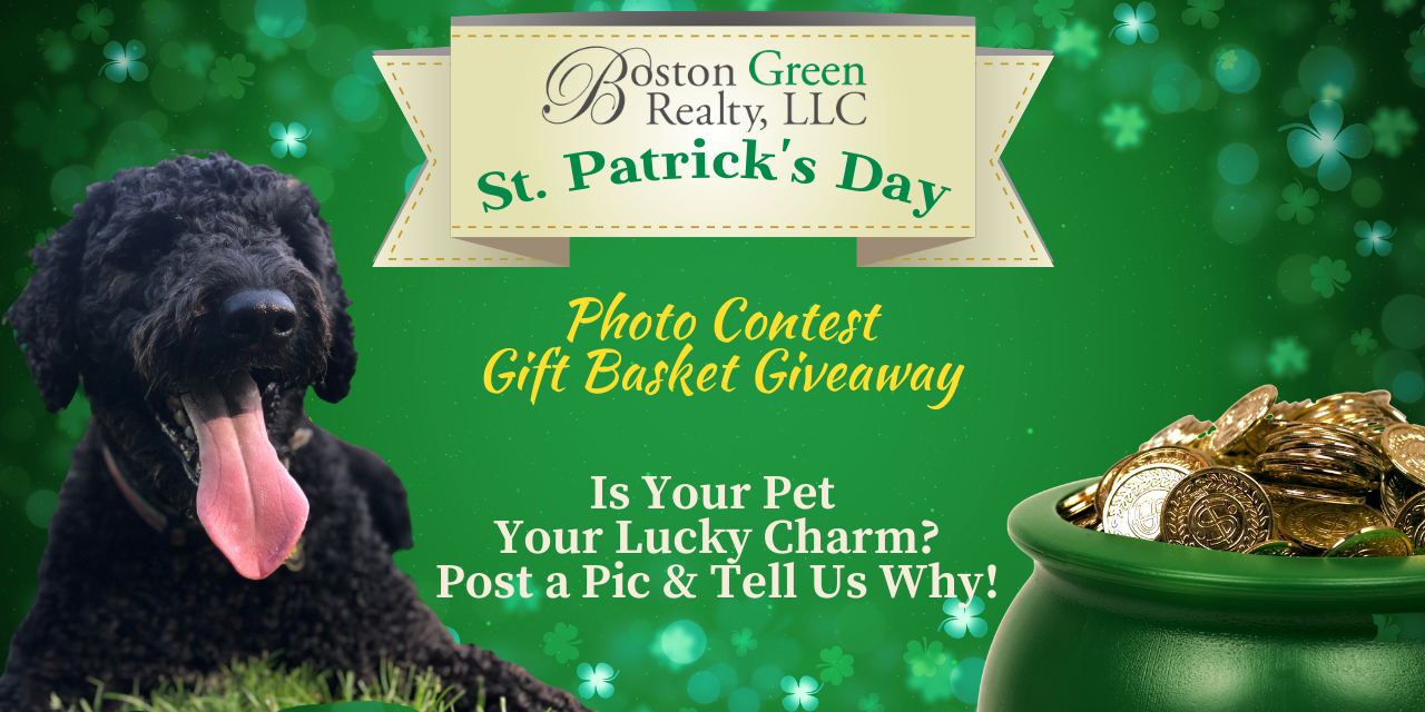 Boston Green Realty Pet Phot Contest Gift Basket Giveaway